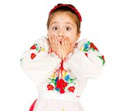 Girl dressed in Ukrainian Stock Photography