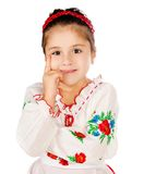 Girl dressed in Ukrainian Royalty Free Stock Photo