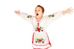 Girl dressed in Ukrainian Royalty Free Stock Image