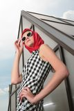 Girl dressing in style 50-h Stock Images