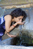 Girl drink Royalty Free Stock Photography