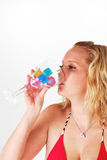 Girl drinking Royalty Free Stock Photos