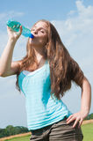 Girl drinking Royalty Free Stock Images