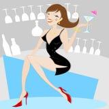 Girl drinking alcohol Royalty Free Stock Photo