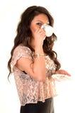 Girl drinking coffee. Stock Photos