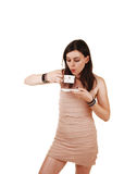 Girl drinking coffee. Stock Images