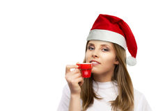 Girl drinking coffee Royalty Free Stock Photo