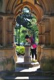 A girl drinking in hyde park,sydney,australia Royalty Free Stock Photos