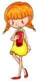 Girl drinking Royalty Free Stock Image