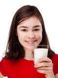 Girl drinking milk Royalty Free Stock Photos