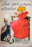 Vintage french magazine cover girl and cats royalty free illustration