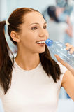 Girl drinking pure water Royalty Free Stock Photography