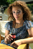 Girl Drinking Soda Stock Photography
