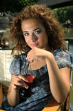 Girl Drinking Soda Royalty Free Stock Images