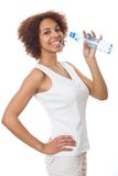 Girl drinking water Royalty Free Stock Images