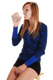 Girl drinking water. Royalty Free Stock Photo