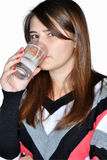 Girl drinking water Royalty Free Stock Photos