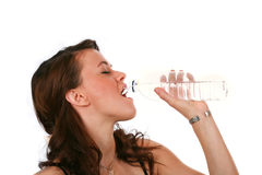 Girl Drinking Water Royalty Free Stock Photo