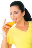 Girl Drinking Wine Royalty Free Stock Photos