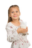 Girl Drinks Milk Royalty Free Stock Image