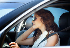 Girl driver Stock Photos