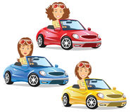 Girl Driving Convertible Royalty Free Stock Photography