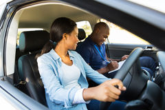 Girl driving lessons Stock Photography