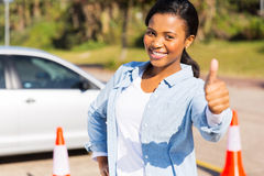 Girl driving school Stock Images