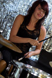 Girl Drummers Rock Royalty Free Stock Image