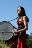 Girl Drumming Royalty Free Stock Photos