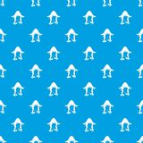 Girl dutch pattern seamless blue Stock Photography