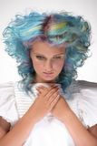 Girl with dyed hair, professional hair colouring Royalty Free Stock Image