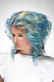 Girl with dyed hair, professional hair colouring Royalty Free Stock Photo