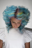 Girl with dyed hair, professional hair colouring Stock Photography