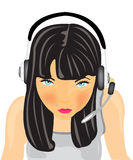 Girl in earphone Royalty Free Stock Photo