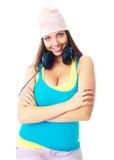 Girl with earphones Stock Photo