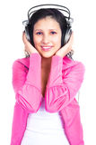 Girl with earphones Stock Photography