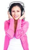 Girl with earphones Stock Photography