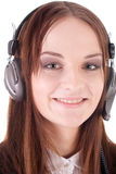 Girl in the earphones Stock Photo