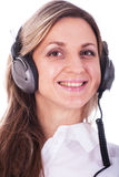 Girl with earphones Royalty Free Stock Photo