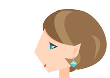 Girl with an earring Stock Image
