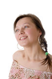Girl with earrings Stock Photo