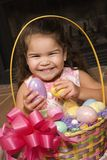 Girl with Easter basket. Stock Images
