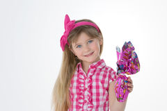 Girl on Easter day Stock Photo