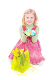 Girl with easter egg Stock Images