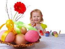 Girl with easter egg Stock Photos