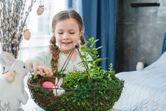 Girl with easter egg Royalty Free Stock Images