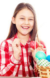 Girl and easter egg Royalty Free Stock Image