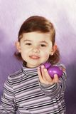 Girl and easter eggs Stock Photography