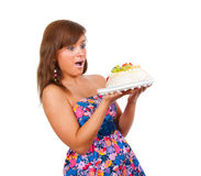 Girl Eat Cake Royalty Free Stock Photo